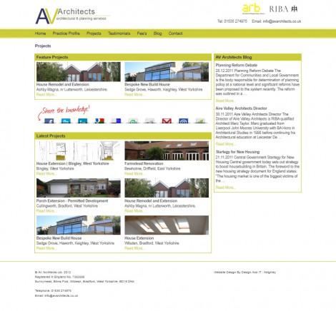 AV Architects - Portfolio Page