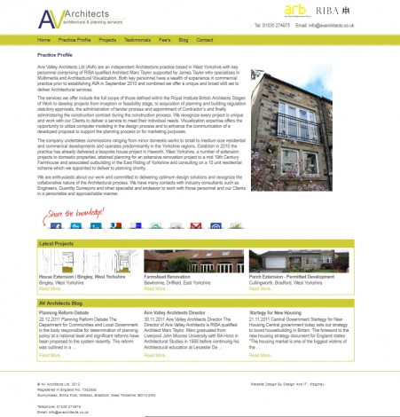 AV Architects - Practice Profile Page