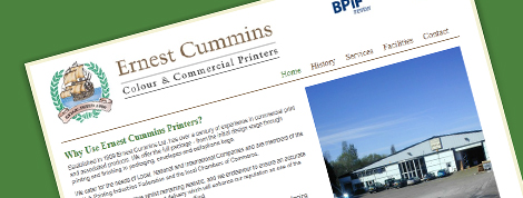 Ernest Cummins Printers Website